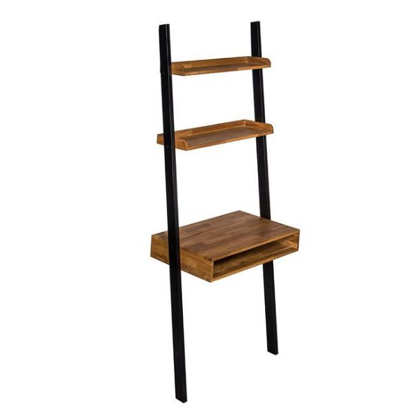 Industrial Ladder Shelving with Desk
